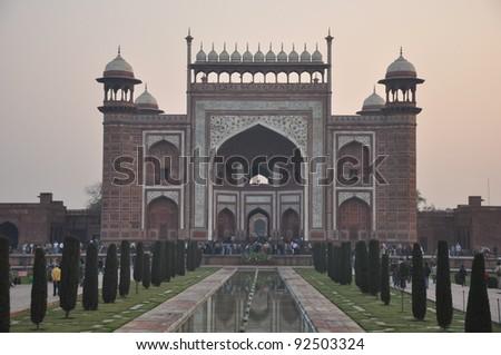 Entrance to the Taj Mahal in Agra, India
