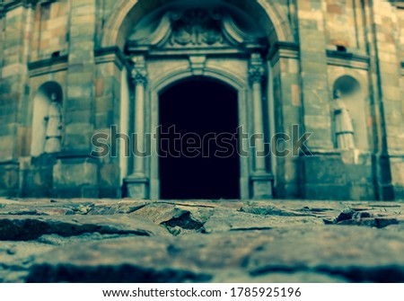 entrance to the temple on the Polish hill Zdjęcia stock ©