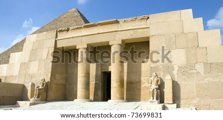 entrance to the tomb of the wife of Pharaoh Khafre, Giza, Egypt, Africa