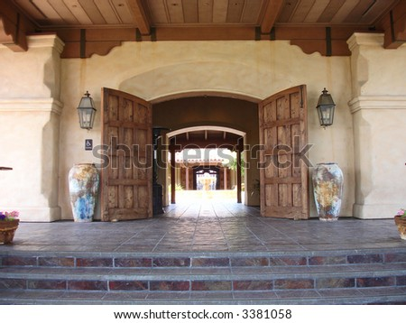 Entrance to upscale golf club in Northern California
