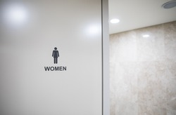 Entrance to women's restroom