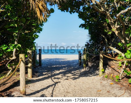 Photo of  Entrance walkway to Blind Pass Beach on Manasota Key on the Gulf of Mexico in Englewood FLorida in the United States
