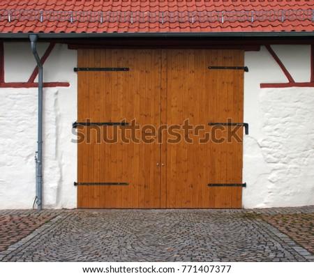 entrance way barn door