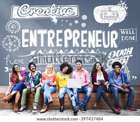 Entrepreneur Investor Business Leader Concept #397437484