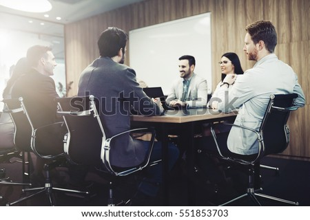 Entrepreneurs and business people conference in modern meeting room #551853703