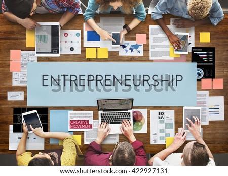 Entrepreneurship Organizer Risk Enterprise Dealer Concept #422927131