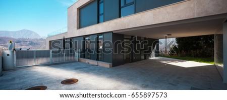 Entry in a modern villa #655897573