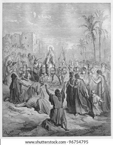 entry of jesus into jerusalem   ...