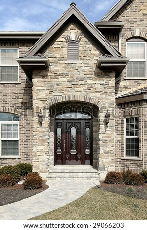 Entry of upscale home