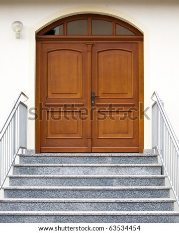 stock photo : entry with stairs