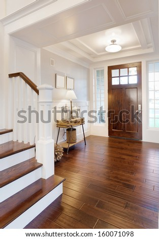 entryway and stairs in luxury...