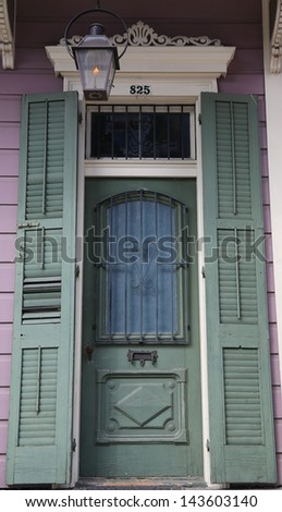 Entryway door in New Orleans