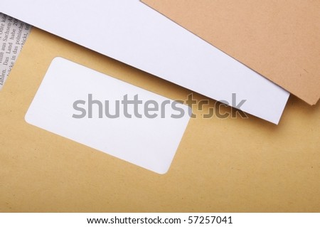 envelope and blank copyspace showing business mail concept