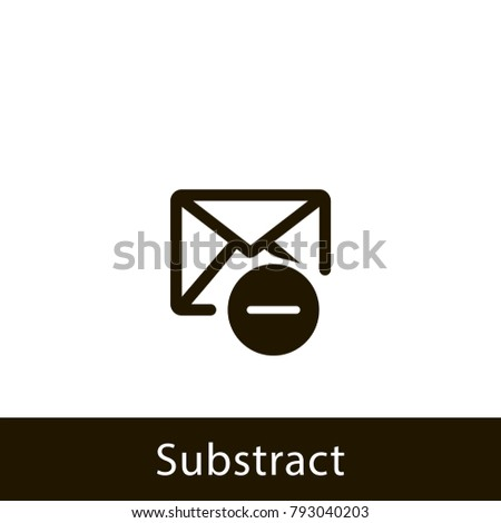 envelope icon. substract envelope. sign design