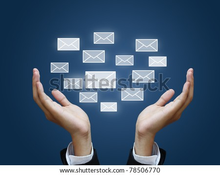 envelope in business hand