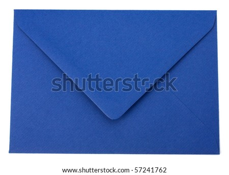 envelope isolated on the white background - stock photo