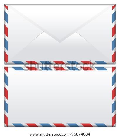 Envelope isolated on white background - stock photo