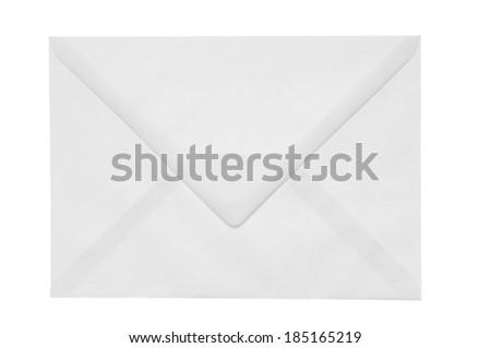 Envelope isolation on white background