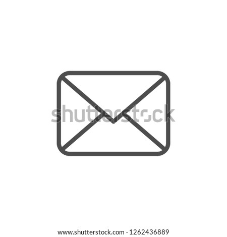 Envelope line icon isolated on white