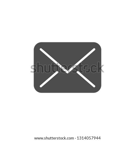 Envelope modern icon isolated on white