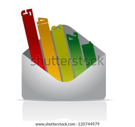envelope number graph illustration design over white