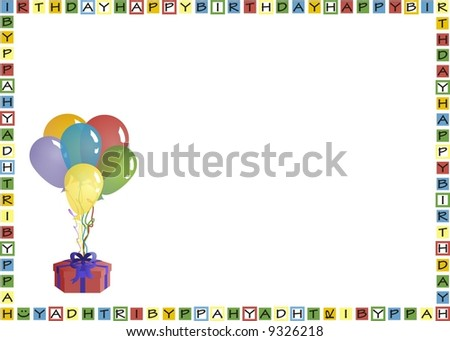 Envelope Print For Birthday Greeting Card Stock Photo 9