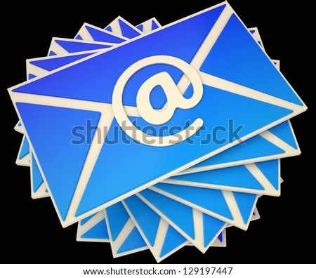 Envelope Showing E-mail Online To Communicate Information
