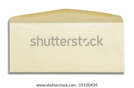 envelope white isolation