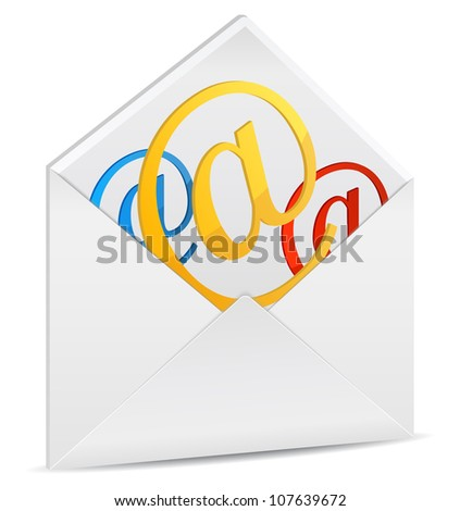 Envelope with email symbols