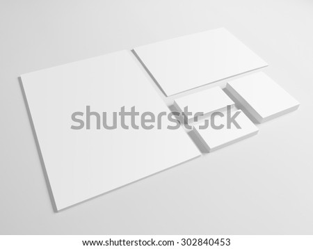 Free photos blank branding mockup with gray business cards envelopes business card folder isolated on gray background notepad and pile of documents reheart Gallery