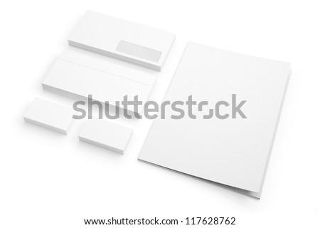Envelopes Business card folder isolated on white