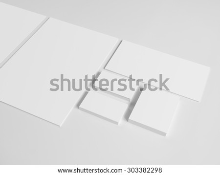 envelopes business card folder on gray background notepad and pile of documents - Business Card Envelopes