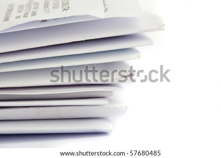 envelopes closeup - stock photo