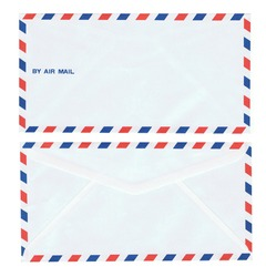 Envelopes international air mail / Real old style envelopes: front and back