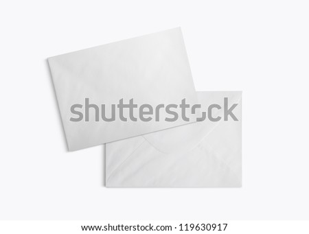 Envelopes isolated on white background