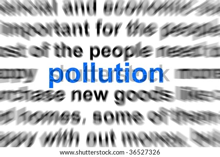 environment pollution concept with word in newspaper