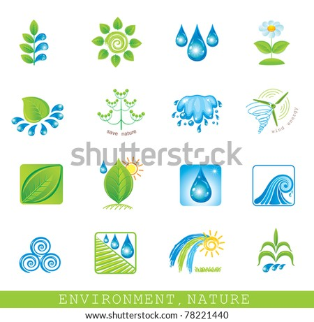 Environment. Set of design elements and icons.