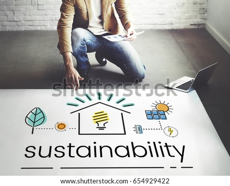 Environment Sustainability Eco Friendly Concept #654929422