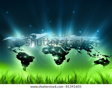 Environmental energy concept. Symbol of environmental protection