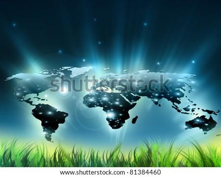 Environmental energy concept. Symbol of environmental protection