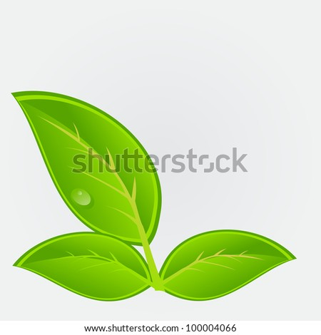 Environmental icon with plant.  illustration