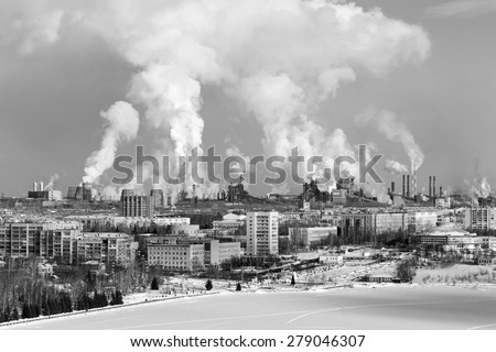 Environmental problem of environmental pollution and air in large cities