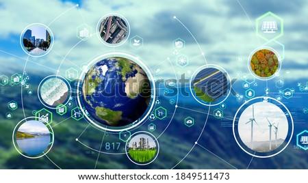 Environmental technology concept. Sustainable development goals. SDGs. Foto stock ©