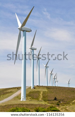 Eolian generators (Basque Country)