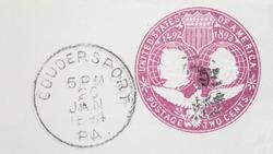 Ephemera postal stationery vintage postmark