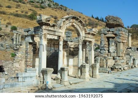 Ephesus Ancient City Artemis Temple (550 BC) Stock fotó ©