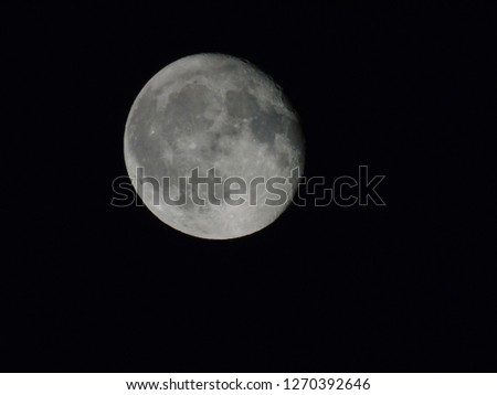Epic celestial body, full moon in a dark night #1270392646