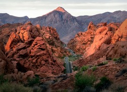 Epic road view in Valley of Fire State Park, Nevada