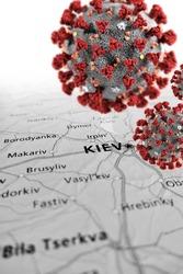 Epidemic conditions over Ukraina area