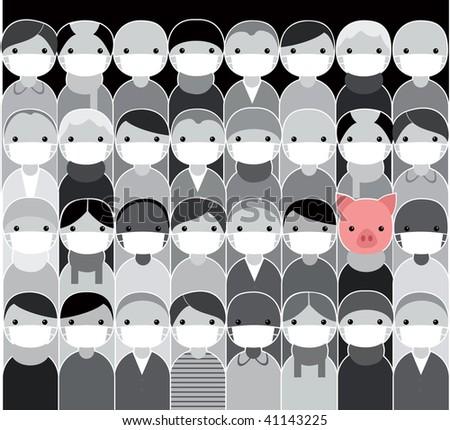 Epidemic. Swine flu concept